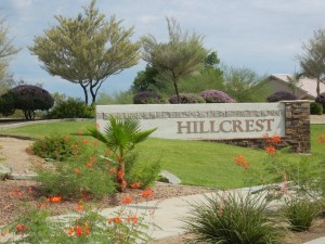 Hillcrest entry sign